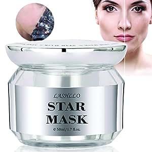 Peel Off Mask, Moisturizing Mask for Face, Star Mask Bling Glitter Deep Cleansing Pore Moisturizing Blackhead Remover Mask, 50ml