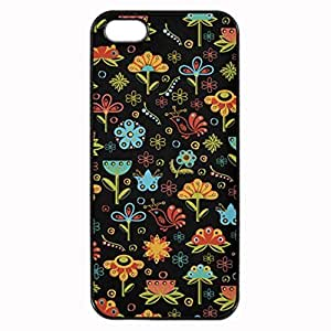 Whimsical Retro Flowers and Birds Printed Plastic Rubber Sillicone Customized iPhone 5 Case, iPhone 5S Case Cover, Protection Quique Cover, Perfect fit, Show your own personalized phone Case for iphone 5 & iphone 5S