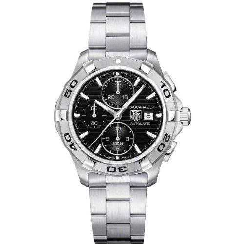 Dial Aquaracer Chronograph Watch - TAG Heuer Men's CAP2110.BA0833 Aquaracer Black Chronograph Dial Watch