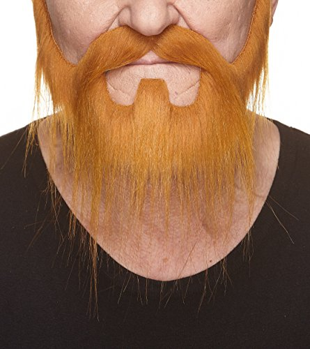 Halloween Coming Back To Theaters (Mustaches Self Adhesive, Novelty, Nomad Fake Beard and Fake Mustache, False Facial Hair, Costume Accessory for Adults, Ginger)