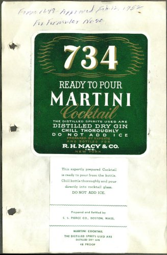734 Ready to Pour Martini for R H Macy NYC - Nyc Macy's