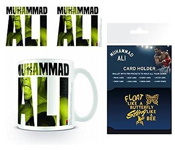Set: Muhammad Ali, Text Taza Foto (9x8 cm) Y 1 Muhammad Ali