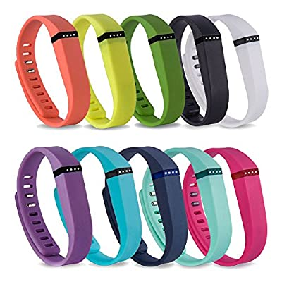 RedTaro Replacement Bands with Metal Clasps for Fitbit Flex / Wireless Activity Bracelet Sport Wristband / Fitbit Flex Bracelet Sport Arm Band (No Tracker, Replacement Bands Only)