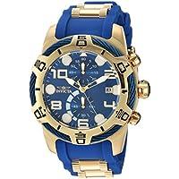 [Sponsored]Invicta Men's 'Bolt' Quartz Gold and Polyurethane Casual Watch, Color:Two Tone (Model:...