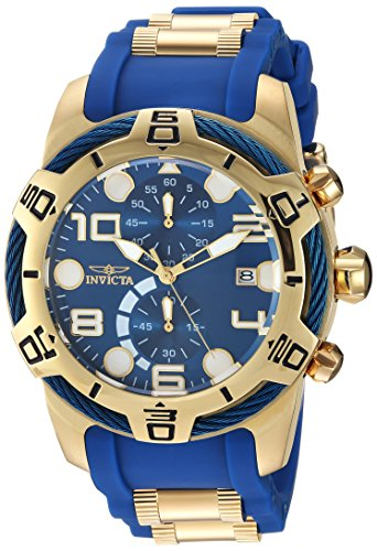 Invicta Men's Bolt Quartz Watch with Polyurethane Strap, Two Tone, 29 (Model: 24217) (Invicta Mens Watches Bolt)