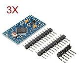 3Pcs Pro Mini ATMEGA328P Module 3.3V 8M Interactive Media Upgrade Version For Arduino - Arduino Compatible SCM & DIY Kits - Module Board