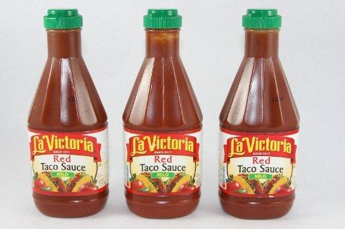La Victoria Red Taco Sauce Mild, 15 oz. (Pack of 3)