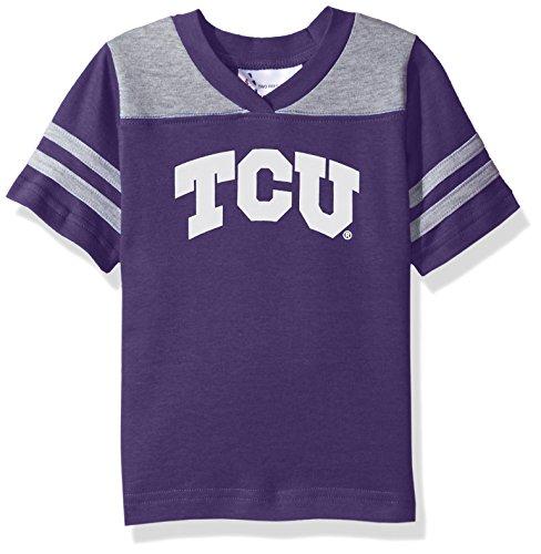 NCAA Tcu Horned Frogs Toddler Boys Football Shirt, Purple, 4