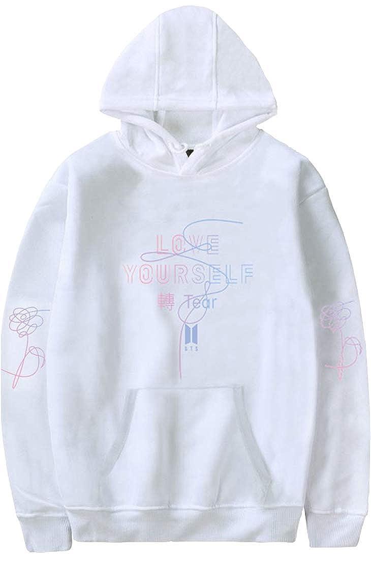 be07115454157 Eudolah Femme  Fille Sweat-Shirt à Capuche fourré Ample Automne Coréen BTS  Bangtan