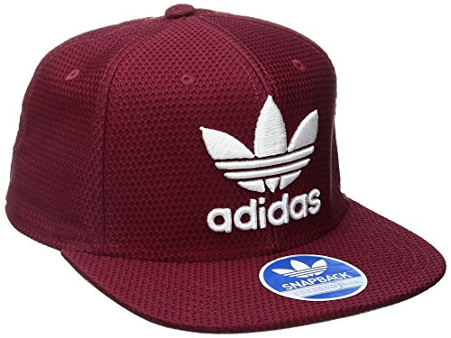 afd0b22788b603 Galleon - Adidas Men's Originals Trefoil Chain Snapback Cap, Collegiate  Burgundy/White, One Size