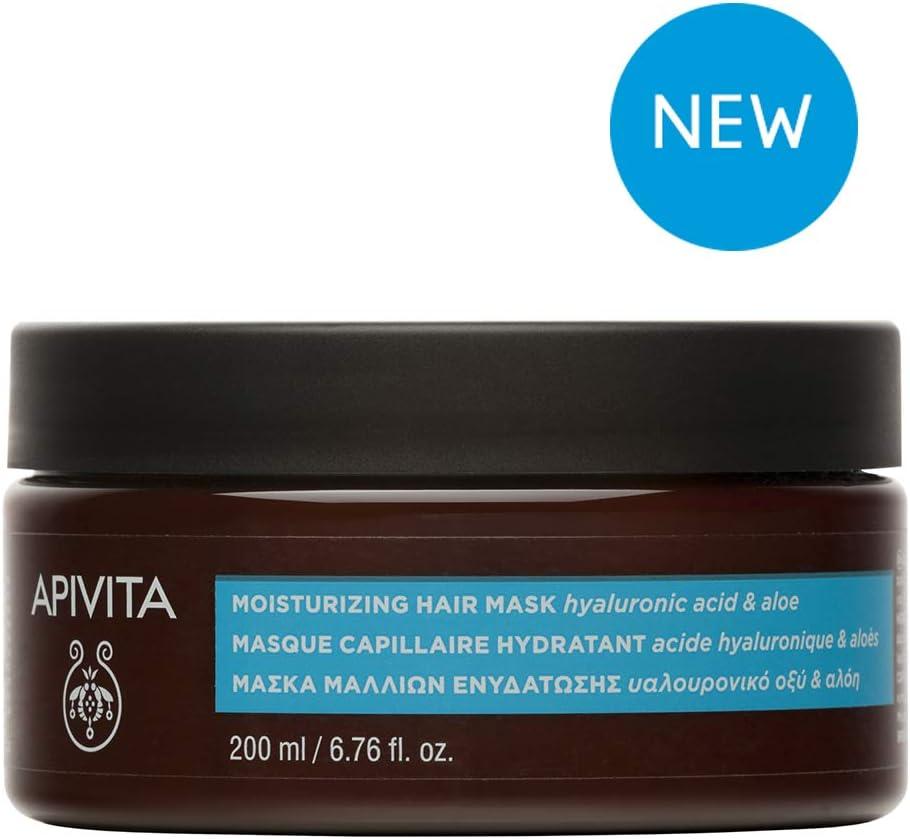 Apivita Mascarilla Capilar Hidratante con ácido hialurónico & aloe 200ml