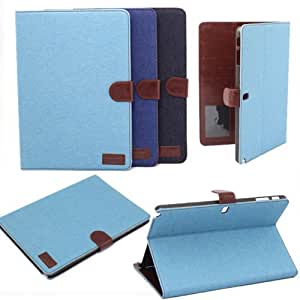 sany58520 For Samsung Galaxy Note 10.1 2014 Edition Leather Denim Cover