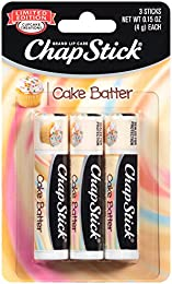 ChapStick Classic Skin Protectant Flavored Lip Balm Tube, Limited Edition, 0.15 Ounce Each (Cake Batter Flavor, 1 Blister Packs of 3 Sticks)