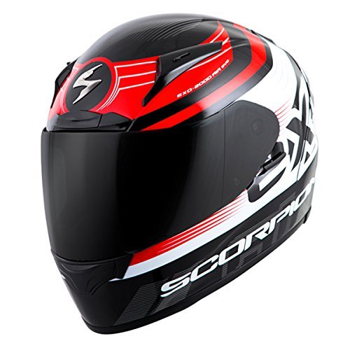 ScorpionExo Unisex-Adult full-face-helmet-style EXO-R2000 Helmet (Black/Red,Large), 1 Pack