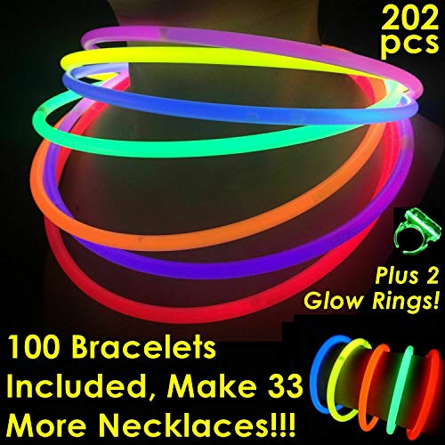 Cheap Glow Necklaces (Glow Sticks Bulk Wholesale Necklaces, 100 22