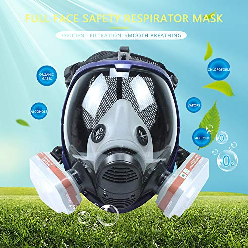 Phoenixfly99 Organic Vapor Full Face Respirator Safety Mask With Visor Protection For Paint, chemicals, polish (6800 Full face respirator+1 Pair 3# Filter) by Phoenixfly99 (Image #2)