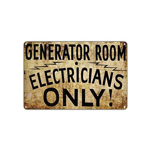 Generator Room Electricians Only! Caution Notice Warning Vintage Retro Metal Wall Decor Art Shop Bar AluminumSign 10