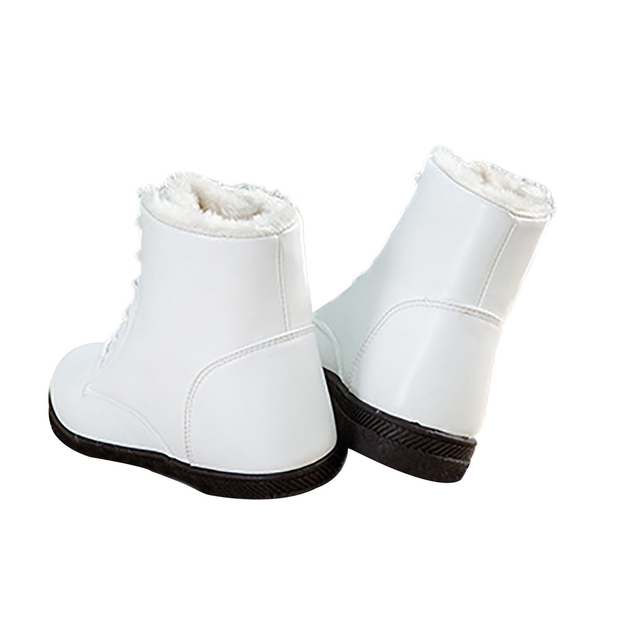 Inornever Waterproof Snow Boots for Women Platform Sneaker Shoes Winter Outdoor PU Leather Ankle Boots
