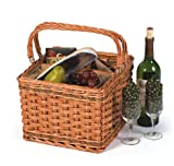 Picnic Plus Tivoli Wine & Cheese Basket With Insulated Cooler Section