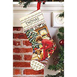 Janlynn Counted Cross Stitch Kit, Waiting for Santa Stocking