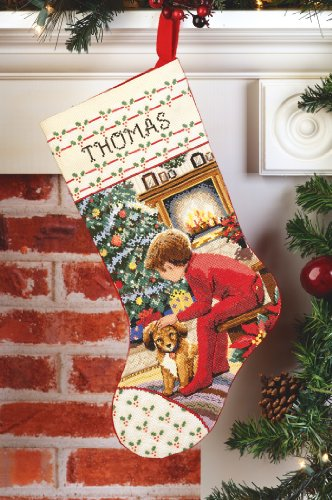 Janlynn Counted Cross Stitch Kit, Waiting for Santa -