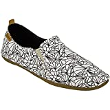 Sanuk Womens Isabel Prints Sidewalk Surfers Footwear Size 11 White/Black