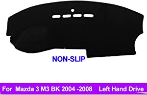 Oneuda Flannel Dashmat Dashboard Cover Dash Pad Car Mat Carpet Sun Shade forMazda 3 M3 BK 2004 2005 2006 2007 2008 Anti-Slip Dash Board Cover Auto Accessories