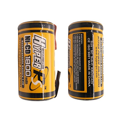 HyperPS-Sub-C-SubC-1800mAh-NiCd-Ni-Cd-Rechargeable-Battery-for-Power-Tools-Battery-Pack-w-Tabs