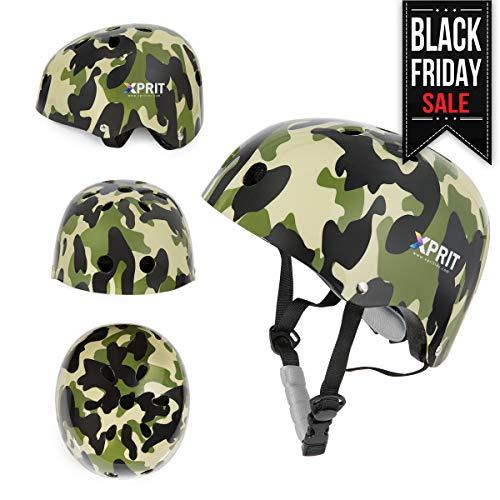 XPRIT Skateboarding, Scooter, Bike, Helmet w/Impact Resistance (Camouflage, Small) (Kids Camo Helmet Bike)