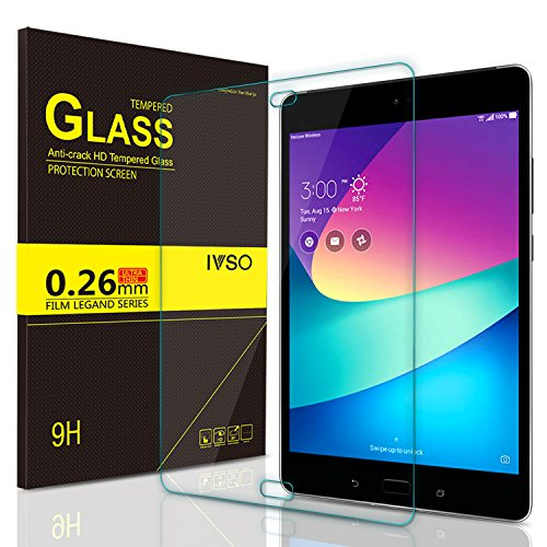 IVSO Screen Protector for Asus Zenpad Z8s Tablet,Crystal Clearity Scratch-Resistant No-Bubble Easy Installation Tempered-Glass for Asus Zenpad Z8s ZT582KL Tablet