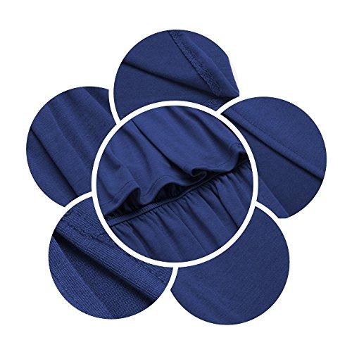 Dress Maxi Short Blue with BLUETIME Off Shoulder Women Side The Split Sleeve Pockets xz8qSz
