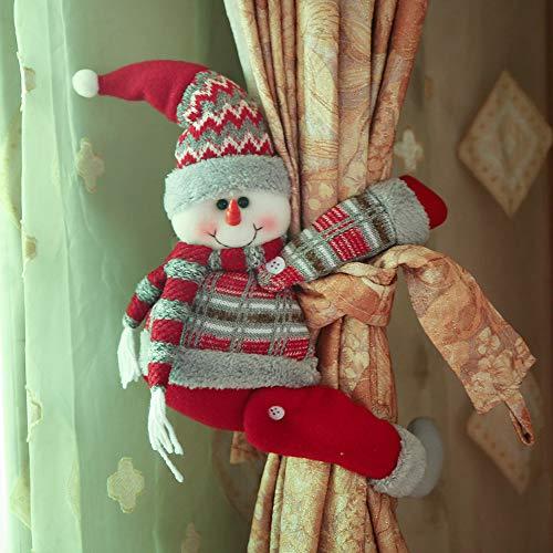 Christmas Curtain Buckle, Cute Cartoon Doll Curtain Buckle Window Decoration Home Decors Christmas Decorations (C)