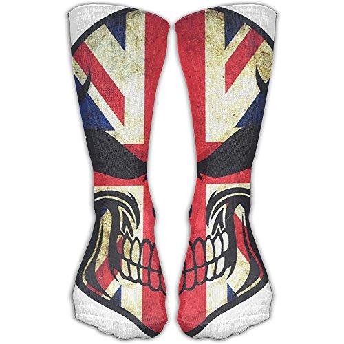 UK Flag Sugar Skull Women & Men Socks Soccer Sport Tube Stockings Length 30cm ()