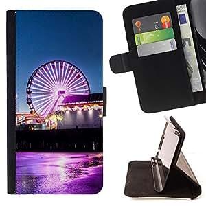 BullDog Case - FOR/HTC Desire 820 / - / Sunset Beautiful Nature 38 /- Monedero de cuero de la PU Llevar cubierta de la caja con el ID Credit Card Slots Flip funda de cuer