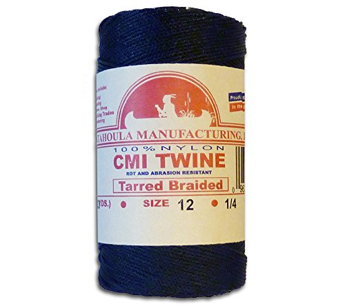 Braided Twine Nylon (400' Catahoula Manufacturing #12 Tarred Braided Nylon Twine (Bank Line) 95 lb Tensile Strength)