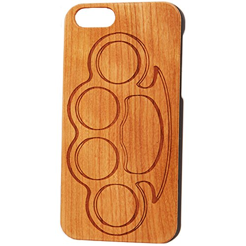 Case Worx Brass Knuckles Wood Cell Phone Case iPhone 6/6s (Brass Knuckles Iphone Case)