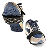 Ice Cleats Traction Nonskid Over Shoes/Boots Snow Ice Grips Crampons Studs Spikes, Adjustable in Size