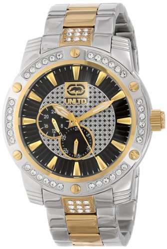 Marc Ecko Men's E18507G2 The Possession Textured Sunray Dials wuth Reapeat logo pattern Watch