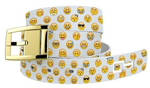 Emoji Faces Belt with Gold Buckle. Great for Emoji or Similar Halloween or Cosplay Costume - Easy To Make Halloween Costumes For Teenage Girls