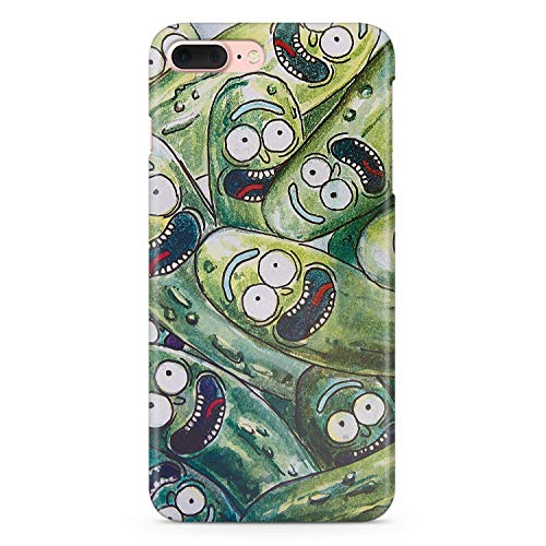 Pickle Funny Face 7 8 iPhone White Plastic Case iPhone Compatible With Apple iPhone 7 8 Full Wrap Plastic Cover Cell Phone Case AW2259