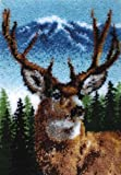 "Caron Classics Latch-Hook Kit, Deer, 20"" X 30"""