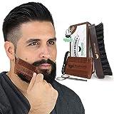 BEARDCLASS Beard Brush and Comb Set (Brown)