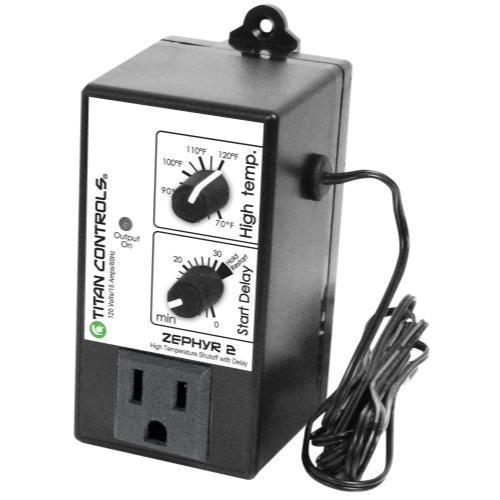 Titan Controls High Temperature Shut-Off Controller w/ Delay, Single Outlet, 120V - Zephyr 2