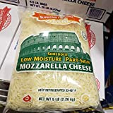 Supremo Italiano Shredded Low-Moisture Part skim Mozzarella Cheese 5 lb
