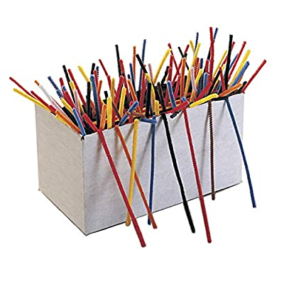 Creativity Street Chenille Stems, 1/8 x 6 Inches, Assorted Colors, Pack of 1000: Industrial & Scientific