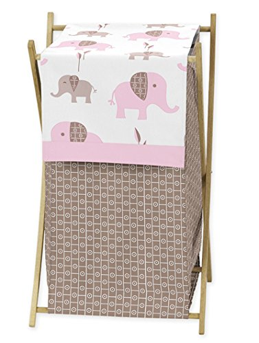 Sweet Jojo Designs Baby/Kids Clothes Laundry Hamper for Pink and Brown Mod Elephant Bedding by Sweet Jojo Designs