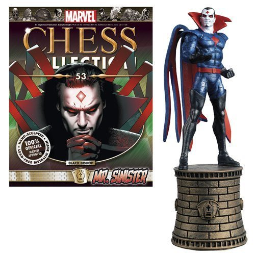 Marvel X-Men Mr. Sinister Black Bishop Chess Piece with Collector Magazine