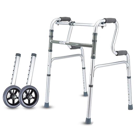 WY-WHEEL Andadores Ancianos Plegable 2 Ruedas - Marco para ...