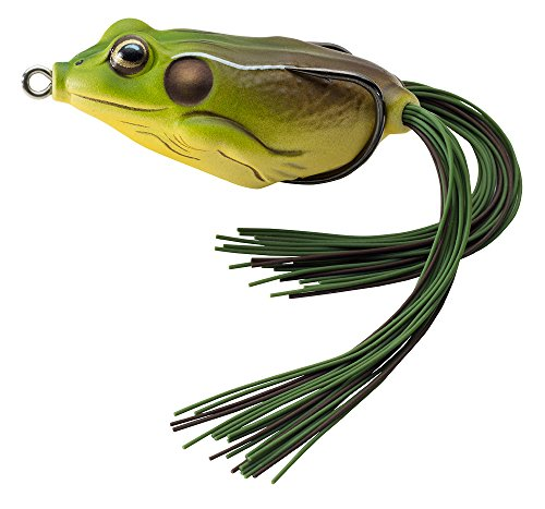 LIVE TARGET Koppers Floating Frog Hollow Body Lure, 1.75-Inch, 1/4-Ounce, Green/Brown