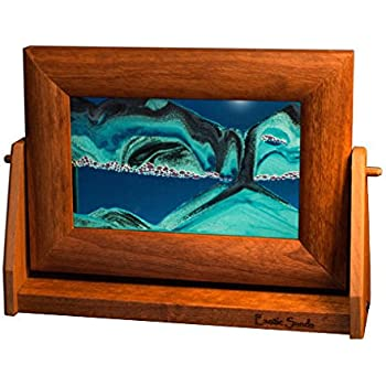 most popular exotic sands usa sand picture 7x9 inch alder frame ocean blue ocean blue small hourglass sand timer office toy office playground
